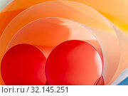 Multilayer rounded color elements. Background creative art photography. Стоковое фото, фотограф Olesya Tseytlin / Фотобанк Лори