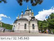 Купить «Foros. Crimea - June 9. 2019. Church of the Resurrection», фото № 32145843, снято 29 июня 2019 г. (c) Володина Ольга / Фотобанк Лори