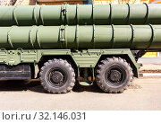 Купить «Russian anti-aircraft missile system (SAM) S-300», фото № 32146031, снято 4 мая 2019 г. (c) FotograFF / Фотобанк Лори
