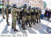 Купить «Special Forces soldiers of the police», фото № 32151379, снято 5 мая 2018 г. (c) FotograFF / Фотобанк Лори