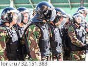 Купить «Special Forces soldiers of the police», фото № 32151383, снято 5 мая 2018 г. (c) FotograFF / Фотобанк Лори
