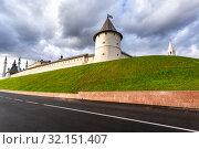Купить «Kazan Kremlin and Kul Sharif mosque in Republic of Tatarstan, Russia», фото № 32151407, снято 10 июня 2018 г. (c) FotograFF / Фотобанк Лори