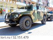 Купить «High-mobility vehicles GAZ-2330 Tigr», фото № 32151479, снято 5 мая 2018 г. (c) FotograFF / Фотобанк Лори