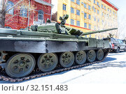 Купить «Military modified russian army main battle tank T-72B3M», фото № 32151483, снято 5 мая 2018 г. (c) FotograFF / Фотобанк Лори