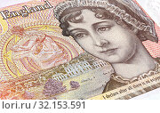 British currency ten pound banknote, detail. Стоковое фото, фотограф FotograFF / Фотобанк Лори