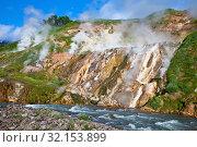 Купить «Geysers on Kamchatka», фото № 32153899, снято 19 июля 2011 г. (c) Сергей Краснощеков / Фотобанк Лори