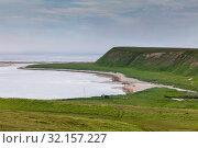 Landscape of Bering Island. Стоковое фото, фотограф Сергей Краснощеков / Фотобанк Лори