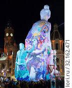 Купить «Comic figures on Falles celebration», фото № 32162471, снято 18 марта 2019 г. (c) Яков Филимонов / Фотобанк Лори