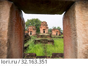 Купить «The Prasat Nong Hong south of the city of Buriram in the province of Buri Ram in Isan in Northeast thailand. Thailand, Buriram, November, 2017», фото № 32163351, снято 30 марта 2020 г. (c) age Fotostock / Фотобанк Лори