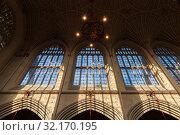 Interior of the Bath Abbey (2017 год). Редакционное фото, фотограф EugeneSergeev / Фотобанк Лори
