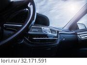 Купить «car interior with shallow depth of field», фото № 32171591, снято 12 сентября 2019 г. (c) Дмитрий Бачтуб / Фотобанк Лори