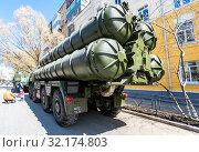 Russian anti-aircraft missile system (SAM) S-300 (2018 год). Редакционное фото, фотограф FotograFF / Фотобанк Лори