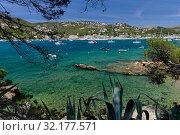 Picturesque panoramic view of Andratx hillside town. Mallorca Island, Baleares, Spain (2019 год). Стоковое фото, фотограф Alexander Tihonovs / Фотобанк Лори
