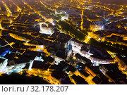 Купить «Burgos city illuminated at dusk and of famous cathedral in Castilla y Leon,», фото № 32178207, снято 21 июня 2019 г. (c) Яков Филимонов / Фотобанк Лори