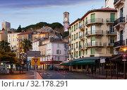 Купить «View of streets of Cannes in France», фото № 32178291, снято 3 декабря 2017 г. (c) Яков Филимонов / Фотобанк Лори