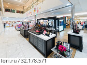 Купить «Cosmetics boutiques in Hyundai IPark mall, Seoul», фото № 32178571, снято 26 марта 2017 г. (c) Александр Подшивалов / Фотобанк Лори