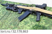 Купить «Russian rifle with under-barrel grenade launcher», фото № 32178863, снято 18 мая 2019 г. (c) FotograFF / Фотобанк Лори
