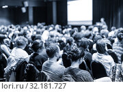 Купить «Speaker giving presentation on scientific business conference.», фото № 32181727, снято 2 декабря 2016 г. (c) Matej Kastelic / Фотобанк Лори