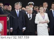 Aug. 6, 2015 Warsaw, presidential inauguration in Poland: Andrzej Duda sworn in as new Polish president. Ceremony at the Marshal Jozef Pi³sudski Square... Редакционное фото, фотограф BE&W AGENCJA FOTOGRAFICZNA SP. / age Fotostock / Фотобанк Лори