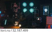 Купить «RUSSIA, KAZAN 10-09-2019: Secret Alien Researching Lab With Many Equipment», видеоролик № 32187499, снято 19 октября 2019 г. (c) Константин Шишкин / Фотобанк Лори