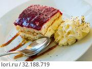 Купить «Piece of blueberry cake», фото № 32188719, снято 14 октября 2019 г. (c) Яков Филимонов / Фотобанк Лори