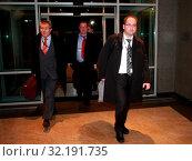 Warsaw, Poland 07.11.08 Pictured: Adam Bielan, Ryszard Czarnecki, Michal Kaminski. Редакционное фото, фотограф jackowski henryk / age Fotostock / Фотобанк Лори