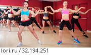 Women dancing in class. Стоковое фото, фотограф Яков Филимонов / Фотобанк Лори