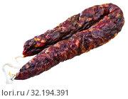 Купить «French dry-cured sausage with liver», фото № 32194391, снято 20 сентября 2019 г. (c) Яков Филимонов / Фотобанк Лори