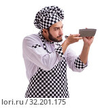 Купить «Male cook isolated on the white background», фото № 32201175, снято 6 июля 2017 г. (c) Elnur / Фотобанк Лори