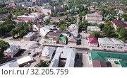 Купить «Aerial view of Yegoryevsk - Russian town and administrative center in sunny spring day», видеоролик № 32205759, снято 12 мая 2019 г. (c) Яков Филимонов / Фотобанк Лори