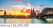 Купить «Cologne at sunset», фото № 32210155, снято 22 сентября 2012 г. (c) Sergey Borisov / Фотобанк Лори