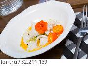 Codfish ceviche with avocado sauce. Стоковое фото, фотограф Яков Филимонов / Фотобанк Лори