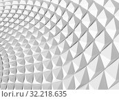 Купить «Abstract white geometric background 3 d», иллюстрация № 32218635 (c) EugeneSergeev / Фотобанк Лори