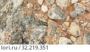 Stone. Texture of colorful Mediterranean stone on the shore. Стоковое фото, фотограф Моисеев Дмитрий / Фотобанк Лори