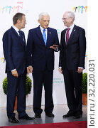 Купить «29.09.2011 Warsaw, Poland. Eastern Partnership Summit. Pictured: Jerzy Buzek, Donald Tusk, Herman van Rompuy», фото № 32220031, снято 22 октября 2019 г. (c) age Fotostock / Фотобанк Лори