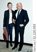 8.12.2012 Warsaw, Poland. Pictured: Jerzy Buzek with his daughter Agata. Редакционное фото, фотограф Andrzejewski Maciej / age Fotostock / Фотобанк Лори