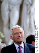 09.06.2009 Warsaw, Poland. Pictured: Jerzy Buzek. Редакционное фото, фотограф Brykczynski Donat / age Fotostock / Фотобанк Лори