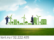 Купить «The concept of clean energy and environmental protection», фото № 32222435, снято 25 января 2020 г. (c) Elnur / Фотобанк Лори