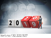 Concept of changing year from 2019 to 2020. Стоковое фото, фотограф Elnur / Фотобанк Лори
