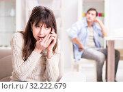 Купить «Couple cheating on each other at home», фото № 32222679, снято 11 декабря 2017 г. (c) Elnur / Фотобанк Лори