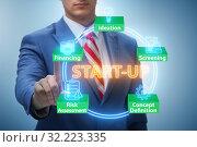 Купить «Concept of start-up and entrepreneurship», фото № 32223335, снято 22 ноября 2019 г. (c) Elnur / Фотобанк Лори