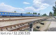 Passenger cars Ukrainian Railways (2019 год). Редакционное видео, видеограф Потийко Сергей / Фотобанк Лори