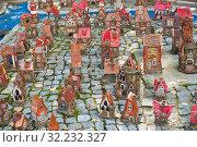Купить «Маленькие домики. Модель острова Кнайпхоф в город Светлогорск. Калининградская область. Россия», фото № 32232327, снято 3 сентября 2019 г. (c) E. O. / Фотобанк Лори
