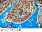 Купить «Модель острова Кнайпхоф в городе Светлогорск. Калининградская область. Россия», фото № 32232347, снято 3 сентября 2019 г. (c) E. O. / Фотобанк Лори