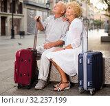 Mature spouses enjoying joint vacation. Стоковое фото, фотограф Яков Филимонов / Фотобанк Лори