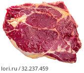 Купить «Fresh uncooked beef steak», фото № 32237459, снято 22 октября 2019 г. (c) Яков Филимонов / Фотобанк Лори