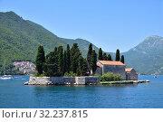 Купить «Natural islet with Saint George Benedictine monastery. Kotor Bay. Montenegro», фото № 32237815, снято 10 июня 2019 г. (c) Володина Ольга / Фотобанк Лори