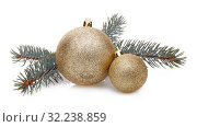 Купить «Christmas and New Year ornaments», фото № 32238859, снято 17 ноября 2018 г. (c) Мельников Дмитрий / Фотобанк Лори