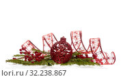 Купить «Christmas and New Year ornaments», фото № 32238867, снято 17 ноября 2018 г. (c) Мельников Дмитрий / Фотобанк Лори