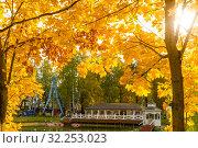 Купить «Городской парк», фото № 32253023, снято 3 октября 2019 г. (c) Кристина Викулова / Фотобанк Лори